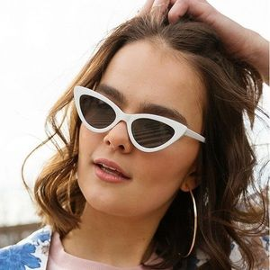 Accessories - Retro White Cat Eye Sunglasses